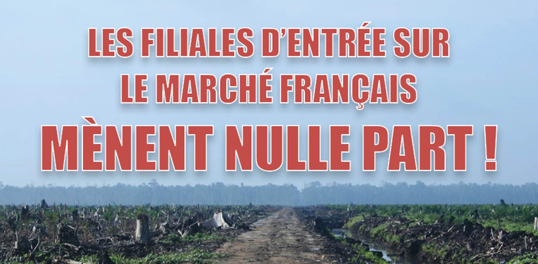 Flyer de l'Union Syndicale d'Outre-Mer dénonçant les filiales d'accès au marché français
